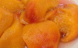 Skin the peaches after steaming and then puree